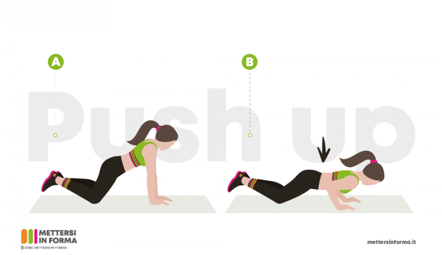 push up per accelerare il metabolismo