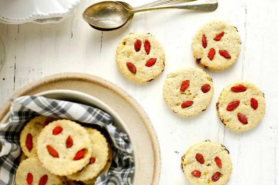 5 biscotti morbidi con bacche di goji