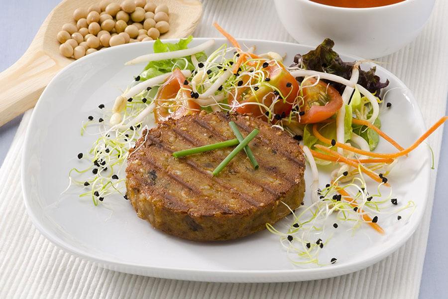 burger con tofu e verdure