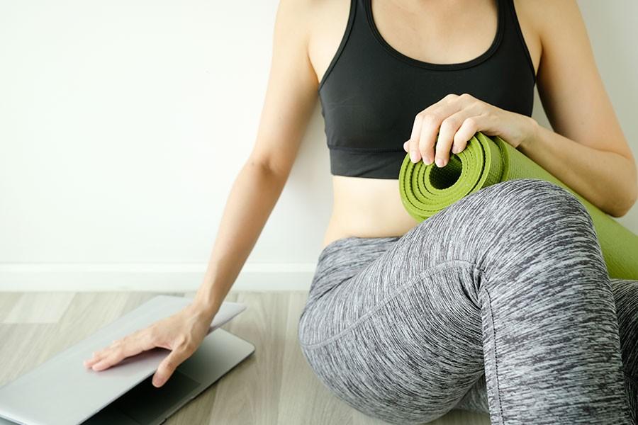 Pianificare l'attività fisica in casa
