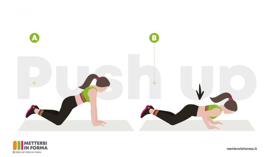 push up tabata infografica