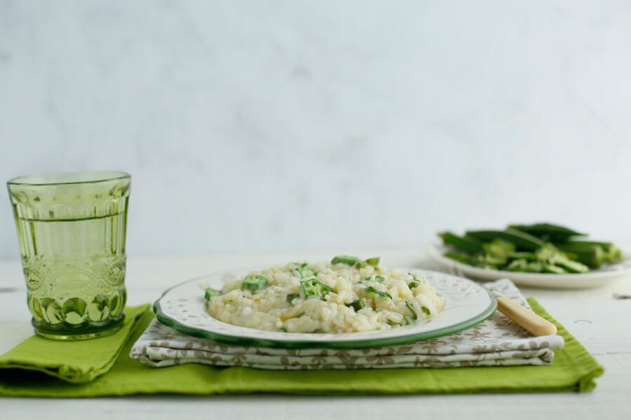 risotto con okra