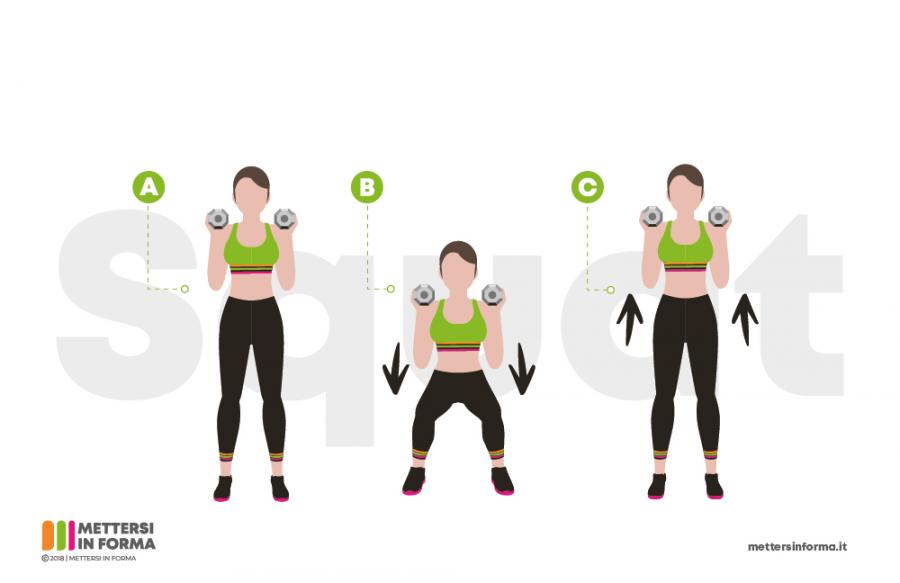infografica sumo squat